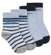 HUGO BOSS Baby socks in stretch cotton blend in a double pack: 'J00078'