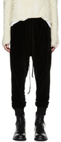 Song For The Mute Black Slim Velour Track Pants
