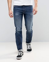 Diesel Buster Jeans Regular Slim Stretch Fit Jeans 853R Dark Wash