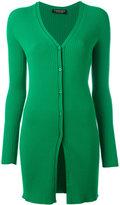Twin-Set elongated ribbed cardigan - women - Polyester/Viscose - S