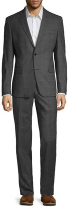Versace Modern-Fit Plaid Stretch Wool Suit