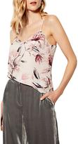 Karen Millen Floral Print Silk Camisole, Multi