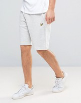 Lyle & Scott Sweat Shorts Regular Fit Eagle Logo In Grey Marl