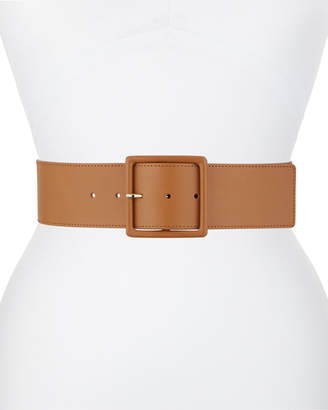 Veronica Beard Oma Wide Leather Belt