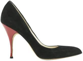 Brian Atwood Black Suede Heels