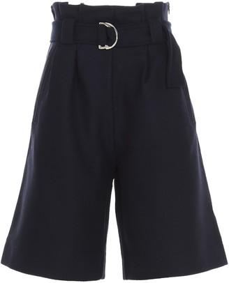 Ganni Paper-Bag Bermuda Shorts
