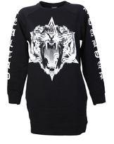 Marcelo Burlon County of Milan Printed Black Cotton Sweater