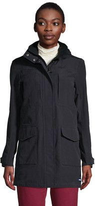 Lands' End Petite Classic Squall Hooded Raincoat