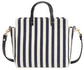 Clare Vivier Petit Simple Stripe Tote - Blue