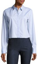 Rag & Bone Calder Reversible Long-Sleeve Button-Down Shirt, Blue