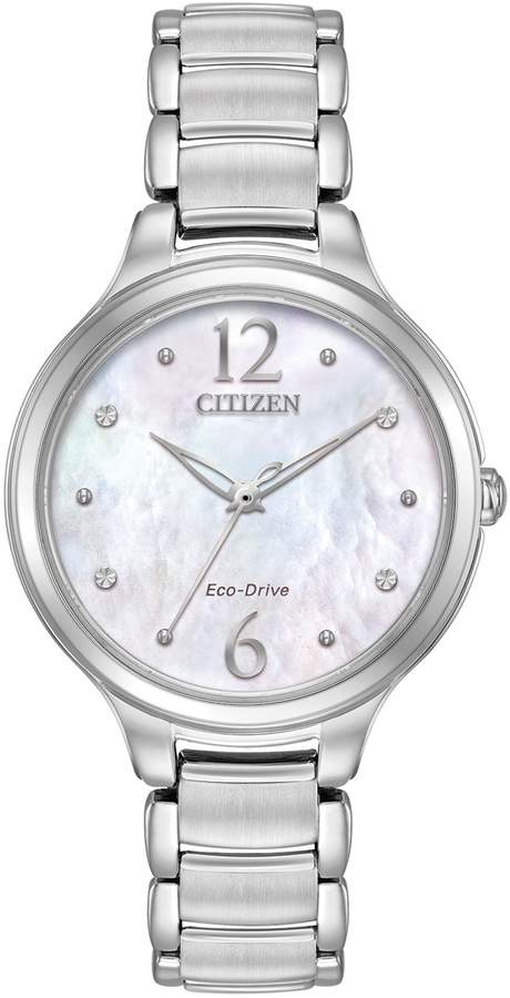Citizen Eco-Drive Women's L Chandler Crystal Stainless Steel Watch - EM0550-59D