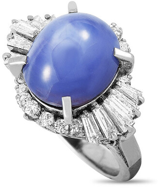 Heritage Platinum 10.35 Ct. Tw. Diamond & Sapphire Ring