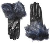 Kate Spade Faux Fox Fur Short Gloves