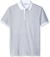 Lacoste Men's Short Sleeve 'Kinetic' Print Pique Polo