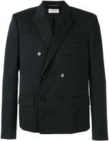 Saint Laurent peaked lapel blazer - men - Silk/Cotton/Virgin Wool - 48