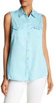Foxcroft Sleeveless Western Yoke Shirt