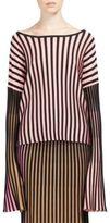 Kenzo Rib-Knit Bell Sleeve Pullover