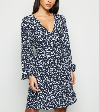 New Look Floral Empire Long Sleeve Dress