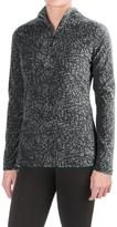 Eddie Bauer Vine Print Fleece Shirt - Zip Neck, Long Sleeve (For Women)