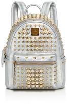 MCM Stark Faux-Pearl Stud Mini Leather Backpack