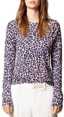 Zadig & Voltaire Leopard-Print Cashmere Sweater