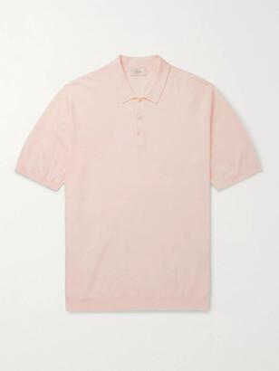 Altea Linen And Cotton-Blend Polo Shirt