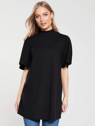 Very Short Sleeve Tunic - Black