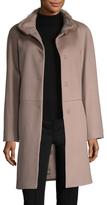 Cinzia Rocca Fur Collar Long Coat
