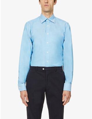 Eton Contemporary-fit cotton and linen-blend shirt