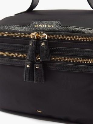 Anya Hindmarch Vanity Kit Recycled-fibre Vanity Case - Black