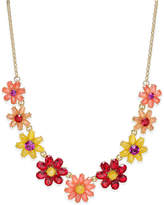 Kate Spade Gold-Tone Crystal Floral Collar Necklace