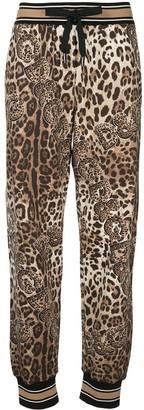 Dolce & Gabbana Leopard Print Track Pants