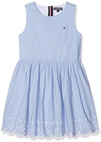 Tommy Hilfiger Girl's Charming Embroidery Dress Slvls Dress,(Manufacturer Size: 10)
