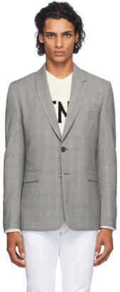 Fendi Grey Prince Of Wales Check Blazer