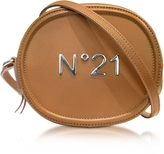 N°21 Brown Leather Oval Crossbody Bag w/Metallic Embossed Logo