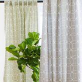 Kew Circle Stitch Printed Curtain – Plaster