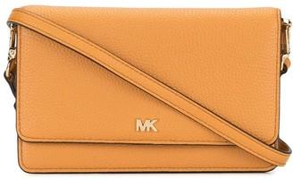 MICHAEL Michael Kors Pebbled Logo Plaque Crossbody Bag