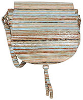 J. Renee Bryann Striped Metallic Cross-Body Bag