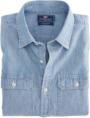 Vineyard Vines Classic Fit Sea Breeze Solid Dockman Shirt