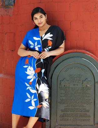 ELOQUII Printed Maxi Dress