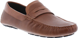 Zanzara London Perforated Leather Penny Loafer
