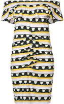 Nicole Miller patterns print off shoulder dress - women - Spandex/Elastane/Rayon - M