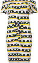 Nicole Miller patterns print off shoulder dress - women - Spandex/Elastane/Rayon - S