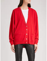 Zadig & Voltaire Scarlett stud-detail wool and cashmere-blend cardigan