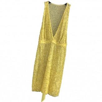Pinko Yellow Glitter Top for Women