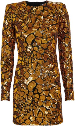 Balmain Sequined Giraffe Mini Dress