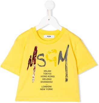 Msgm Kids loose fit short sleeve T-shirt