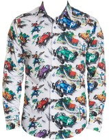 Robert Graham Legends Race Car Stretch-Cotton Shirt
