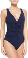 Karla Colletto Ruched-Front One-Piece Swimsuit