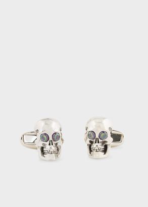 Paul Smith Silver and Stone 'Skull' Cufflinks